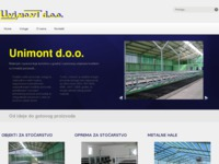 Frontpage screenshot for site: Unimont d.o.o. Slatina (http://www.unimont.hr/)