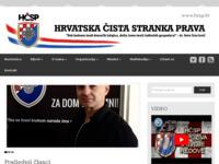 Frontpage screenshot for site: Hrvatska čista stranka prava (http://www.hcsp.hr)
