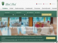 Frontpage screenshot for site: Hotel Park (http://www.union-ck.hr/)