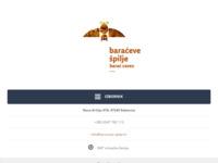 Frontpage screenshot for site: Prezentacija Baraćevih špilja na Internetu (http://www.baraceve-spilje.hr)