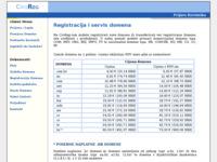 Frontpage screenshot for site: Registracija Domena (http://www.croreg.com)