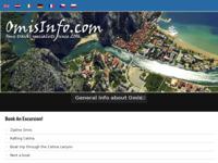Frontpage screenshot for site: Turistički portal grada Omiša (http://www.omisinfo.com/)