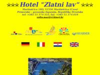 Frontpage screenshot for site: Hotel Zlatni lav Martinščica otok Cres (http://free-ri.htnet.hr/zlatnilav/)