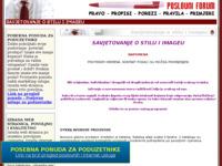 Frontpage screenshot for site: Savjetovanje o stilu i imidžu (http://www.poslovniforum.hr/stil/)
