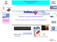 Frontpage screenshot for site: Hrvatske stranice posvećene kvaliteti (http://kvaliteta.inet.hr/)