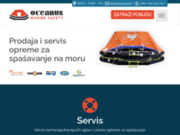 Frontpage screenshot for site: Oceanus - Marine Safety (http://www.oceanus.hr/)