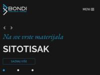 Slika naslovnice sjedišta: Trgovina i grafičke usluge - Bondi-trade (http://www.bondi.com.hr/)