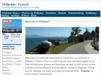 Slika naslovnice sjedišta: Pelješac - Turistički Vodič (http://www.peljesactravel.com/)