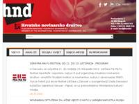 Slika naslovnice sjedišta: Hrvatsko novinarsko društvo (http://www.hnd.hr/)