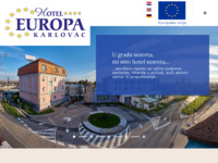Frontpage screenshot for site: Hotel Europa, Karlovac (http://www.hotel-europa.com.hr/)