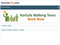 Frontpage screenshot for site: (http://www.korculainfo.com/lastovo/map/map-lastovo.htm)