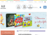 Frontpage screenshot for site: Naša Djeca - nakladnička djelatnost (http://www.nasa-djeca.hr/)