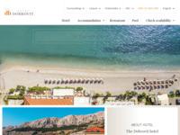 Frontpage screenshot for site: (http://www.hoteltamaris.hr/)