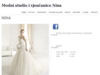 Frontpage screenshot for site: Nina (http://www.vjencanice-nina.hr/)