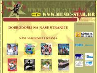 Frontpage screenshot for site: Music Star   -   produkcija i izdavaštvo (http://www.music-star.hr)