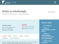 Slika naslovnice sjedišta: Hrvatski zavod za toksikologiju (http://www.hzt.hr)