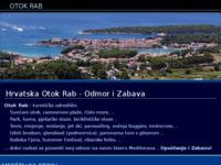 Frontpage screenshot for site: Apartmani i sobe na Otoku Rabu (http://www.croatia-islandrab.com/hr/)