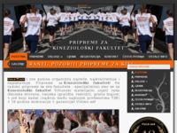 Slika naslovnice sjedišta: Pripreme za Kineziološki fakultet (http://www.pripreme.com)
