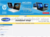 Frontpage screenshot for site: Arhiteh computers (http://www.arhiteh.hr)