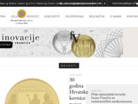 Frontpage screenshot for site: Hrvatski novčarski zavod d.o.o. - Kovnica novca Zagreb (http://www.hnz.hr)