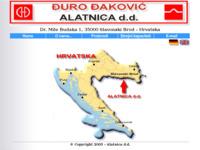 Frontpage screenshot for site: Alatnica d.d. - Đuro Đaković (http://www.alatnica.hr/)