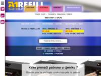 Frontpage screenshot for site: Refill Centar - A1 (http://www.a1centar.hr/)
