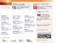 Frontpage screenshot for site: Crotravel (http://www.kroatien-links.de/)