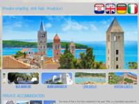 Frontpage screenshot for site: Apartmani na moru, otok Rab (http://www.otokrab.info/)