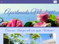 Frontpage screenshot for site: Apartmani Mustapić - Brela (http://www.brela.com/mustapic/)