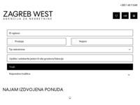 Frontpage screenshot for site: Zagreb West - agencija za promet nekretninama (http://www.zagrebwest.hr/)