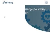 Slika naslovnice sjedišta: Festung d.o.o. (http://www.festung.hr)