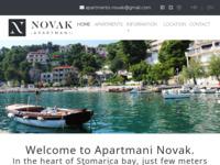 Frontpage screenshot for site: Brela - Apartmani Tonči Novak (http://www.apartments-novak.com/)