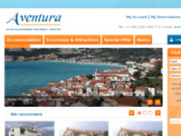Frontpage screenshot for site: Aventura - Putnička agencija, Baška (http://www.aventura-baska.com/)