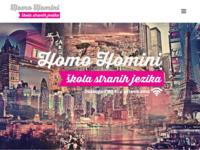 Frontpage screenshot for site: Centar za strane jezike i obrazovanje - Homohomini (http://www.homohomini.hr)