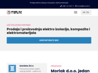 Slika naslovnice sjedišta: Morlak - trgovina elektromaterijalima (http://www.morlak.hr)