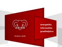 Frontpage screenshot for site: Aries informatika, energetika i graditeljstvo (http://www.aries.hr/)
