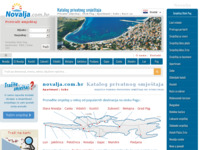 Frontpage screenshot for site: Novalja, otok Pag, Hrvatska (http://novalja.com.hr/)