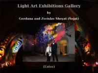 Frontpage screenshot for site: Svjetlostna umjetnost Gordane i Zorislava Šojata (http://grgur.irb.hr/)