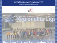 Slika naslovnice sjedišta: Hrvatski badmintonski savez (http://www.cba.hr/)