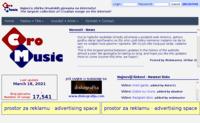 Frontpage screenshot for site: CroMusic (http://www.crolinks.com/cromusic/)