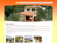 Frontpage screenshot for site: Lucija apartmani (http://www.islandlosinj.com/)