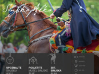 Frontpage screenshot for site: Viteško alkarsko društvo (http://www.alka.hr)