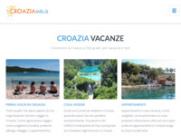 Frontpage screenshot for site: Croazia info (http://www.croaziainfo.it)