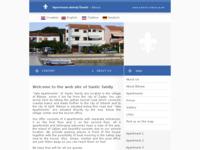Frontpage screenshot for site: Vala apartmani obitelji Šantić (http://www.santic-bibinje.hr/)