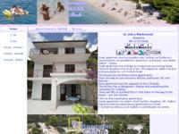 Frontpage screenshot for site: Apartmani Mark - Brela (http://www.brela.com/markunovic/)
