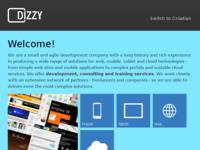 Frontpage screenshot for site: Dizzy internetska rješenja (http://www.dizzy.hr/)