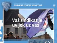 Slika naslovnice sjedišta: Sindikat policije Hrvatske (http://www.sindikatpolicije.hr/)