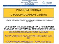Frontpage screenshot for site: Kordun Karlovac (http://www.kordun.hr)
