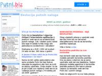 Frontpage screenshot for site: Putni nalozi (http://Putni.biz)