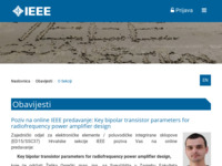 Frontpage screenshot for site: IEEE - Hrvatska (http://www.ieee.hr/)